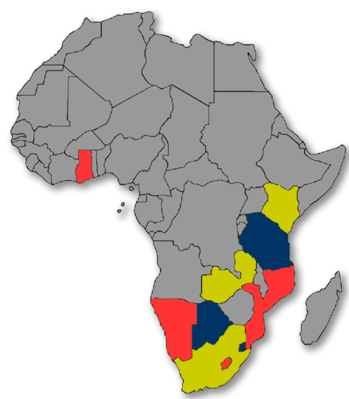 Map of African countries where MIC operates